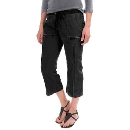 XCVI Marco Crop Pants - Stretch Poplin (For Women) in Black - Closeouts