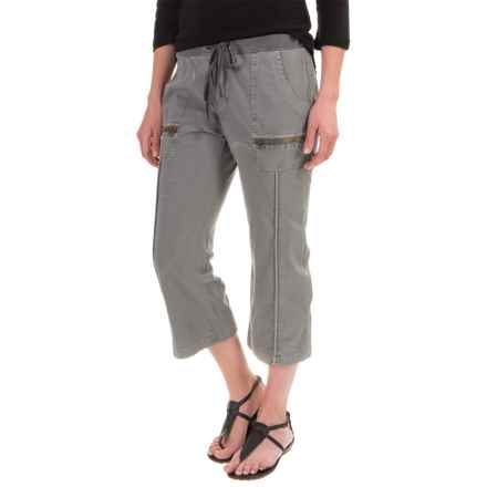 XCVI Marco Crop Pants - Stretch Poplin (For Women) in Mysterious Pigment Grey - Closeouts