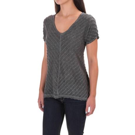 XCVI Meli Zita Shirt - Short Sleeve (For Women) in London Oil Wash