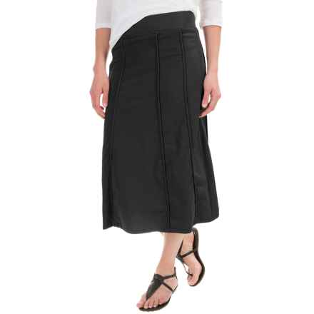 XCVI Nabila Skirt - Stretch Poplin (For Women) in Black - Closeouts