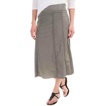 XCVI Nabila Skirt - Stretch Poplin (For Women) in Ivy Pigment - Closeouts