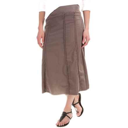 XCVI Nabila Skirt - Stretch Poplin (For Women) in Warm Stone - Closeouts