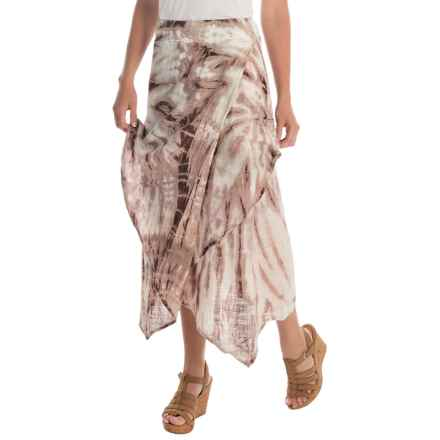 XCVI Oriana Cocoon Gauze Skirt (For Women) in Spiral Plum Wash - Overstock