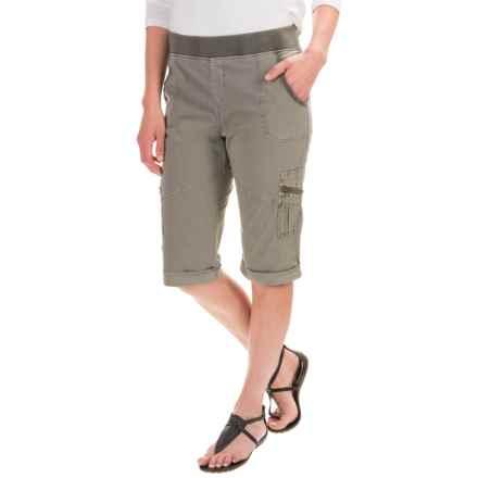 XCVI Ricki Shorts - Stretch Poplin (For Women) in Ivy Pigment - Closeouts