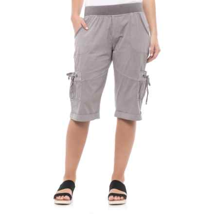 XCVI Rylee Shorts (For Women) in Grey Mist Pigment - Closeouts