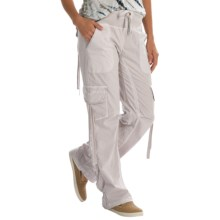 XCVI Scrunch Leg Cargo Pants (For Women) in Alabaster - Closeouts