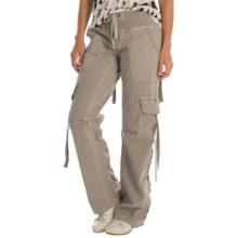 XCVI Scrunch Leg Cargo Pants (For Women) in Silver Cloud - Closeouts