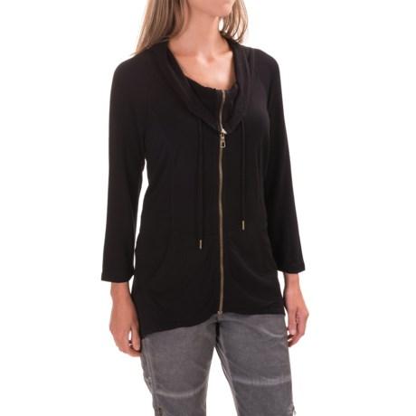 XCVI Shika Knit Jacket - 3/4 Sleeve (For Women) in Black