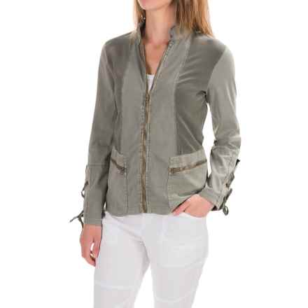 XCVI Skyler Jacket - Stretch Cotton (For Women) in Ivy Pigment - Closeouts
