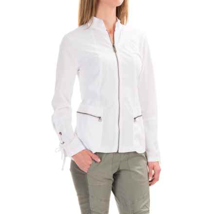 XCVI Skyler Jacket - Stretch Cotton (For Women) in White - Closeouts