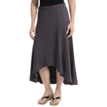 XCVI Solano High Low Cotton Jersey Skirt (For Women) in Asphalt Grey - Closeouts