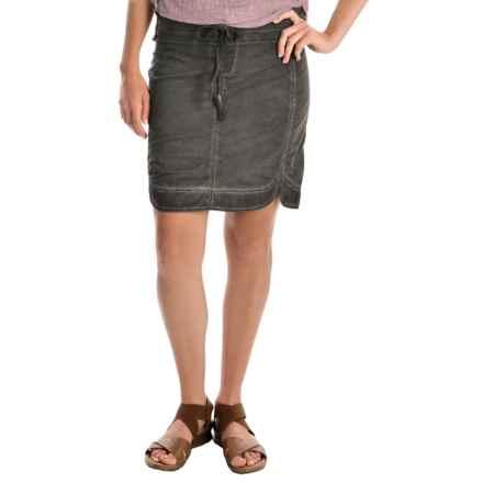 XCVI Sosi Stretch-Poplin Skirt (For Women) in Oil Root Wash - Overstock