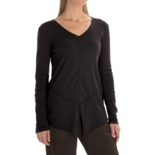 XCVI Tabitha Jersey and Georgette Shirt - Long Sleeve (For Women) in Black - Closeouts