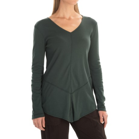 XCVI Tabitha Jersey and Georgette Shirt - Long Sleeve (For Women) in Medussa