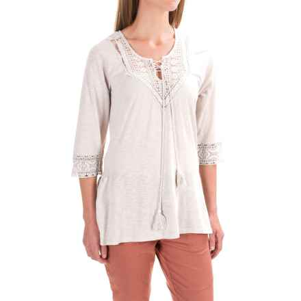 XCVI Tillie Shirt - Cotton-Modal, 3/4 Sleeve (For Women) in North Star - Closeouts