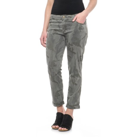 XCVI Twiggy Stretch Twill Pants (For Women) in Camouflage/Ivy Pigment