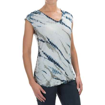 XCVI Valerie Tie-Dye Shirt - V-Neck, Short Sleeve (For Women) in Poodle Wash - Closeouts