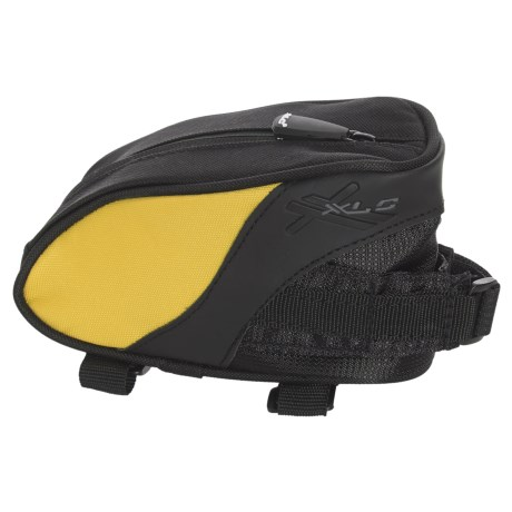 XLC Deluxe Top Tube Bike Bag in Black/Yellow