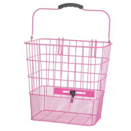 XLC Wire Lift-Off Pannier Bike Basket in Pink