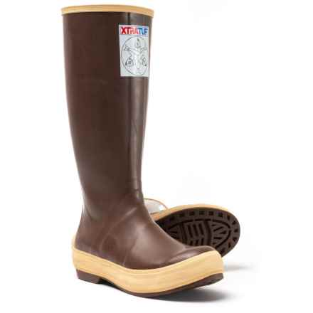 "XTRATUF XT Legacy Salmon Sisters Rain Boots - Waterproof, 15"" (For Women) in Brown - Closeouts"