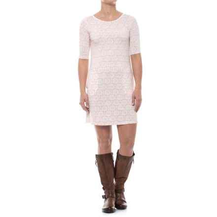 Yala Adrianna Dress - Elbow Sleeve (For Women) in Shell Blossom - Closeouts
