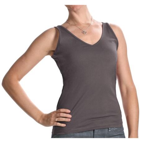 Yala Anna Tank Top - Organic Cotton (For Women) in Shadow