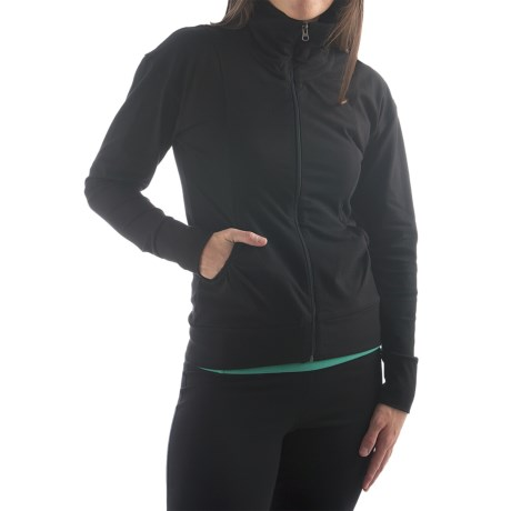 Yala Aspire Short Jacket - Stretch Organic Cotton (For Women) in Black