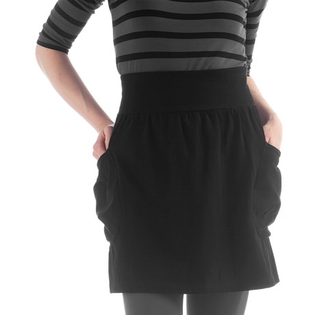 Yala Aspire Trech Short Skirt - Organic Cotton (For Women) in Black