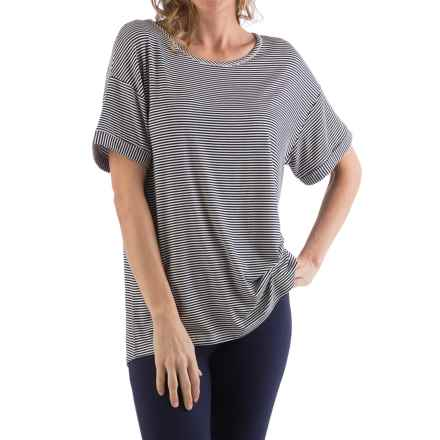 Yala Bella Shirt - Relaxed Fit, Short Sleeve (For Women) in Navymicro - Closeouts