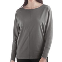 Yala Della Shirt - Organic Cotton, Long Sleeve (For Women) in Shadow - Closeouts