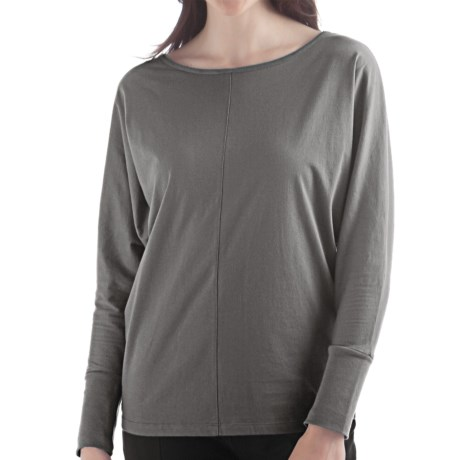 Yala Della Shirt - Organic Cotton, Long Sleeve (For Women) in Black