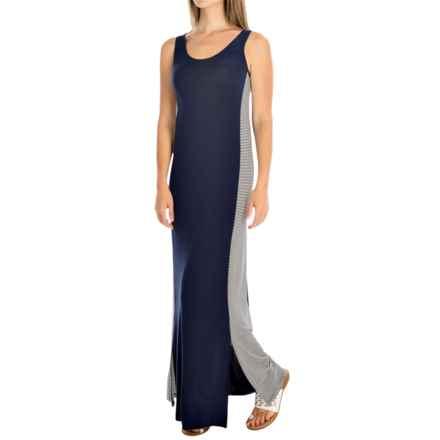 Yala Elise Maxi Dress - Scoop Neck, Sleeveless (For Women) in Navy - Overstock