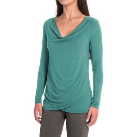 Yala Fiona Shirt - Cowl Neck, Long Sleeve (For Women) in Blue Spruce - Closeouts