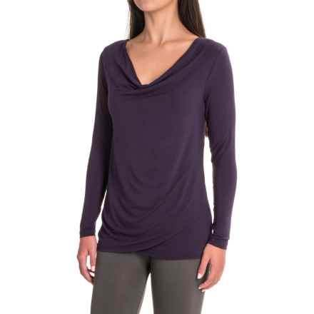 Yala Fiona Shirt - Cowl Neck, Long Sleeve (For Women) in Nightshade - Closeouts