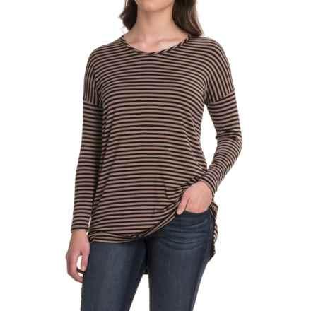 Yala Gia Tunic Shirt - Long Sleeve (For Women) in Blacktoffee - Closeouts