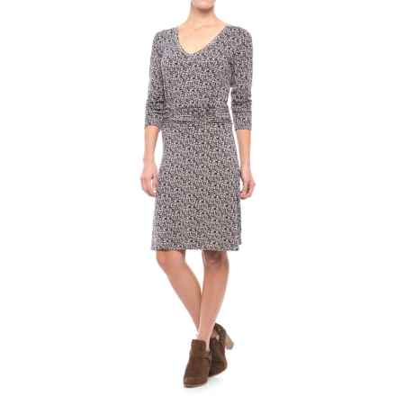 Yala Jasmine Dress - 3/4 Sleeve (For Women) in Nightshade Rhapsody - Closeouts