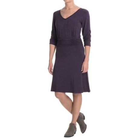 Yala Jasmine Dress - 3/4 Sleeve (For Women) in Nightshade
