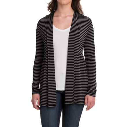 Yala Karina Open-Front Cardigan Shirt - Long Sleeve (For Women) in Black Iron - Closeouts