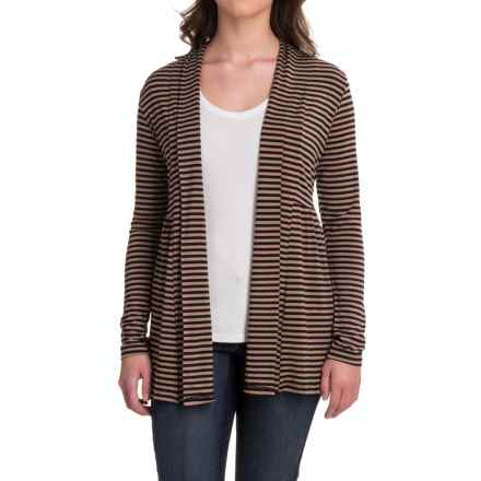 Yala Karina Open-Front Cardigan Shirt - Long Sleeve (For Women) in Black Toffee - Closeouts