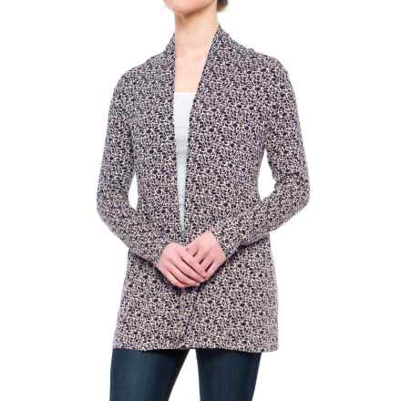 Yala Karina Open-Front Cardigan Shirt - Long Sleeve (For Women) in Night Shade Rhapsody - Closeouts