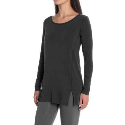 Yala Lizette Tunic Shirt - Long Sleeve (For Women) in Black - Closeouts