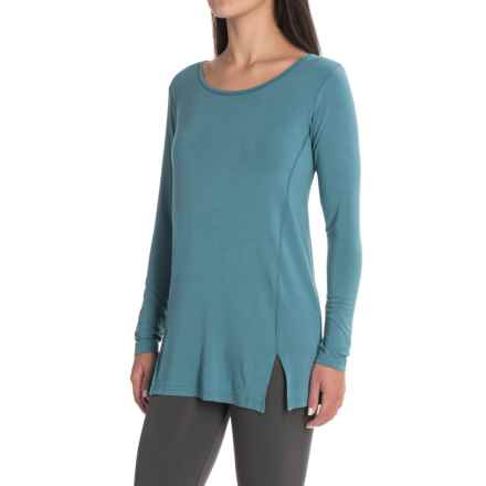 Yala Lizette Tunic Shirt - Long Sleeve (For Women) in Bluespruce - Closeouts