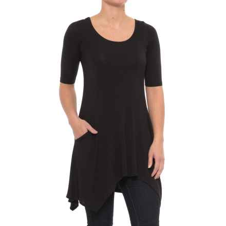 Yala Marlow Tunic Shirt - Elbow Sleeve (For Women) in Black - Closeouts