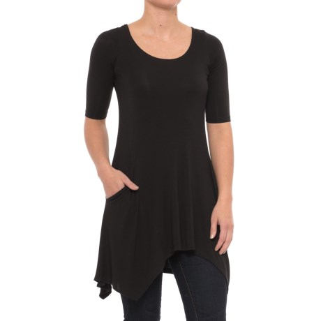 Yala Marlow Tunic Shirt - Elbow Sleeve (For Women) in Black