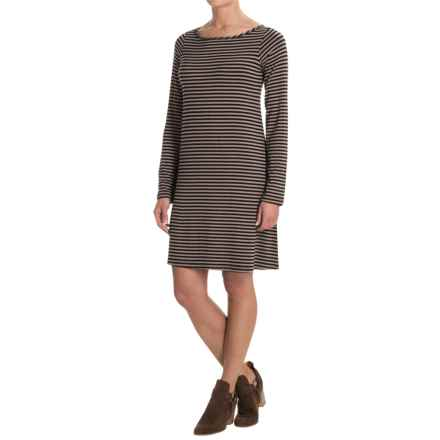 Yala Mia Tunic Dress - Long Sleeve (For Women) in Black/Toffe - Closeouts