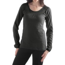 Yala Peyton Smocked Shirt - Organic Cotton, Long Sleeve (For Women) in Black - Closeouts