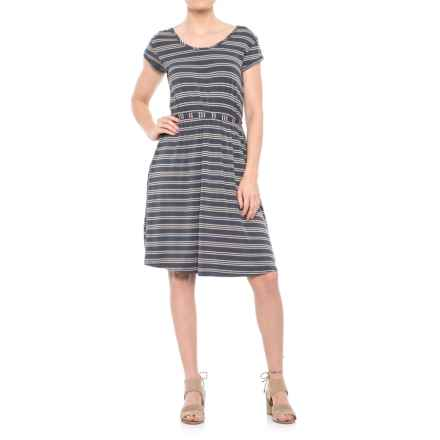 Yala Raelyn Dress - Short Sleeve (For Women) in Vintage Stripe - Closeouts