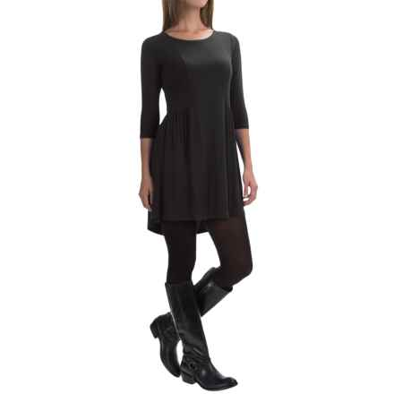 Yala Reese Dress - Scoop Neck, 3/4 Sleeve (For Women) in Black - Closeouts
