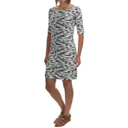 Yala Renee Dress - Scoop Neck, Elbow Sleeve (For Women) in Black Brush - Overstock