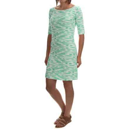 Yala Renee Dress - Scoop Neck, Elbow Sleeve (For Women) in Julep Brush - Overstock